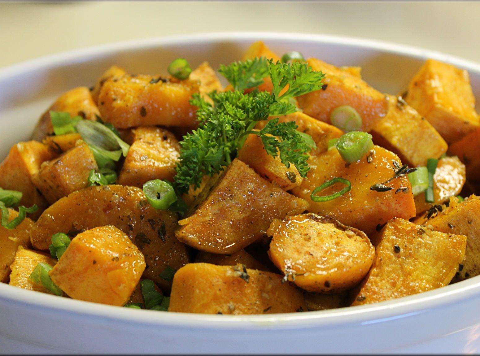 Spicy Roasted Sweet Potatoes Recipe Roasted sweet