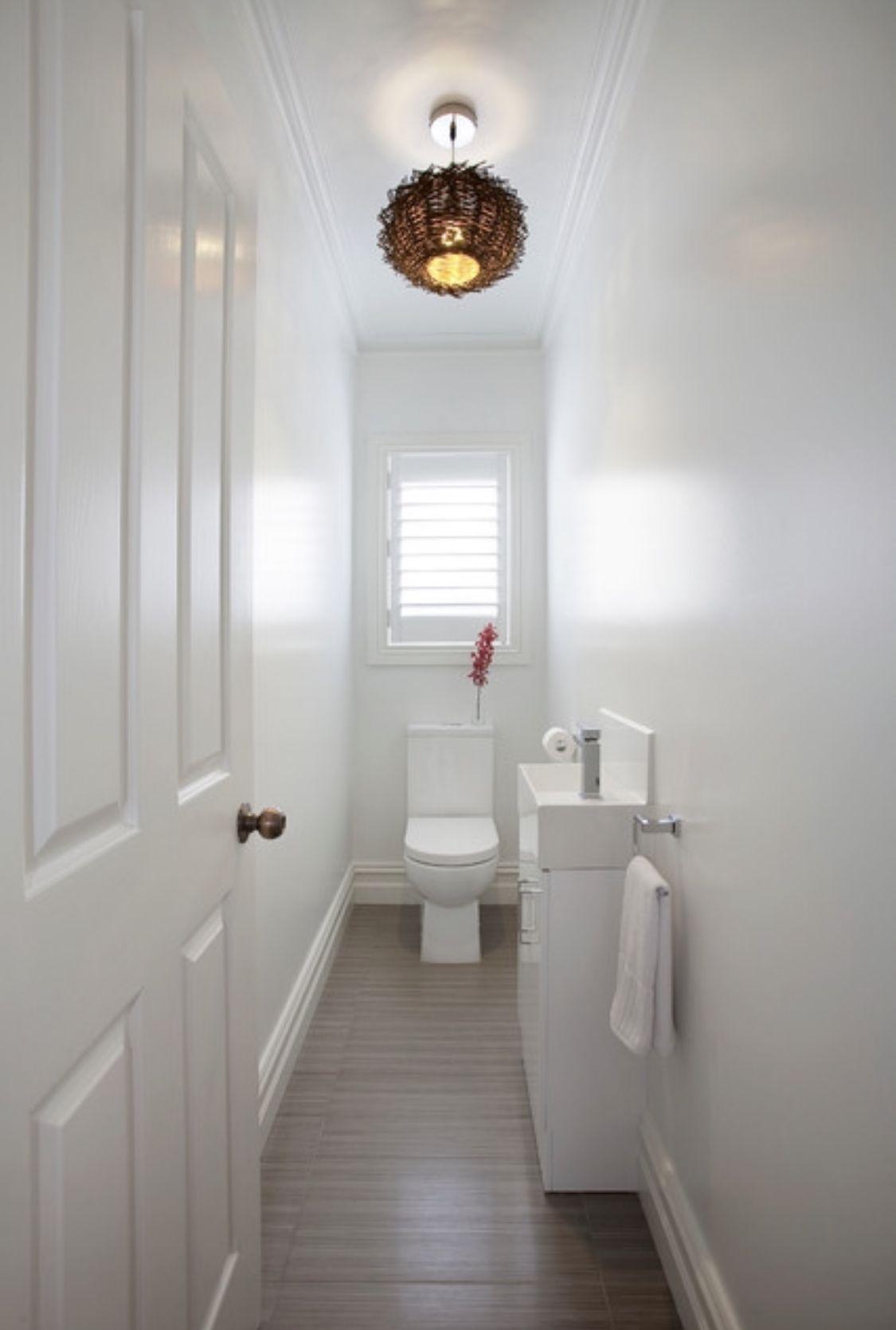 Half Sink In Narrow Bathroom Small Bathroom Decor Small Bathroom Makeover Tiny Powder Rooms