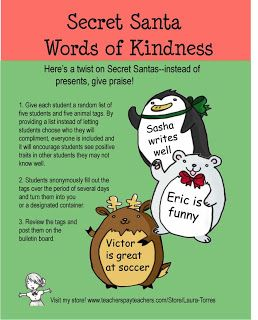 words of kindness holiday activity christmas themed therapy activities holiday activities. Black Bedroom Furniture Sets. Home Design Ideas