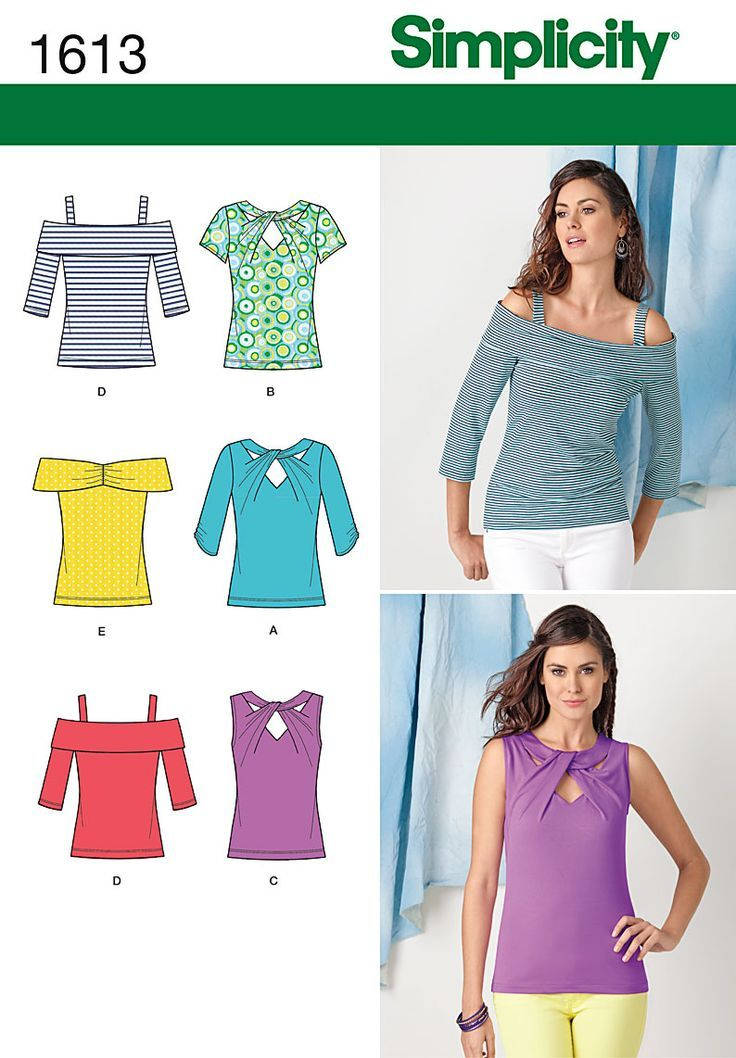 Simplicity Creative Group - Misses\' Knit Tops: | patterns ...