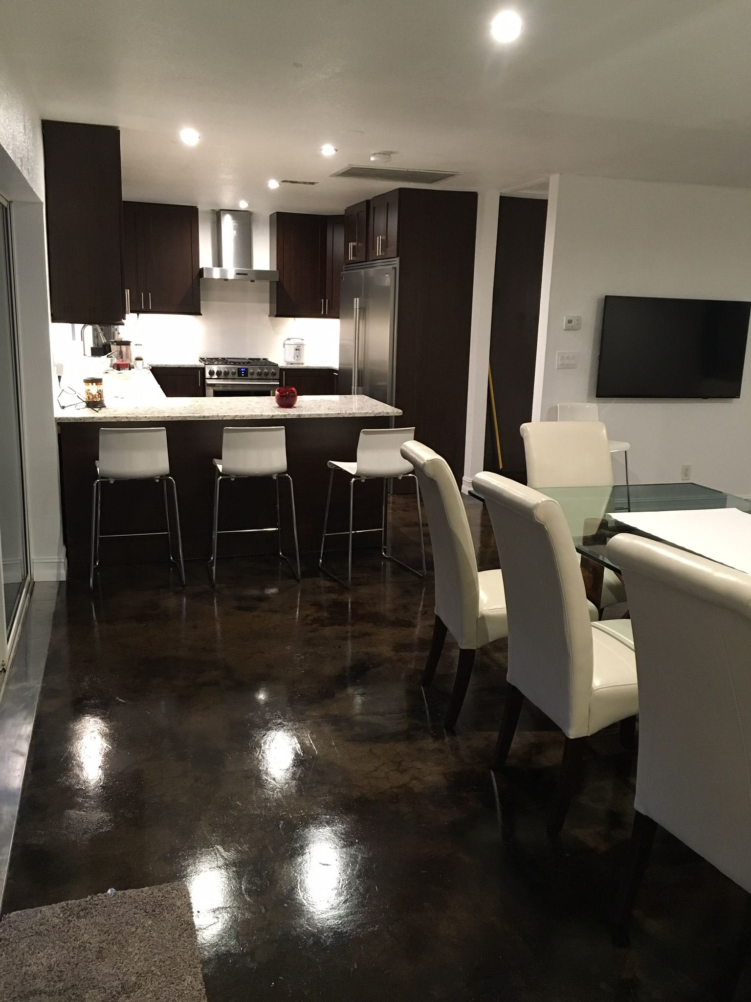 Classy elegant top notch acid stained concrete floors see all the photos in