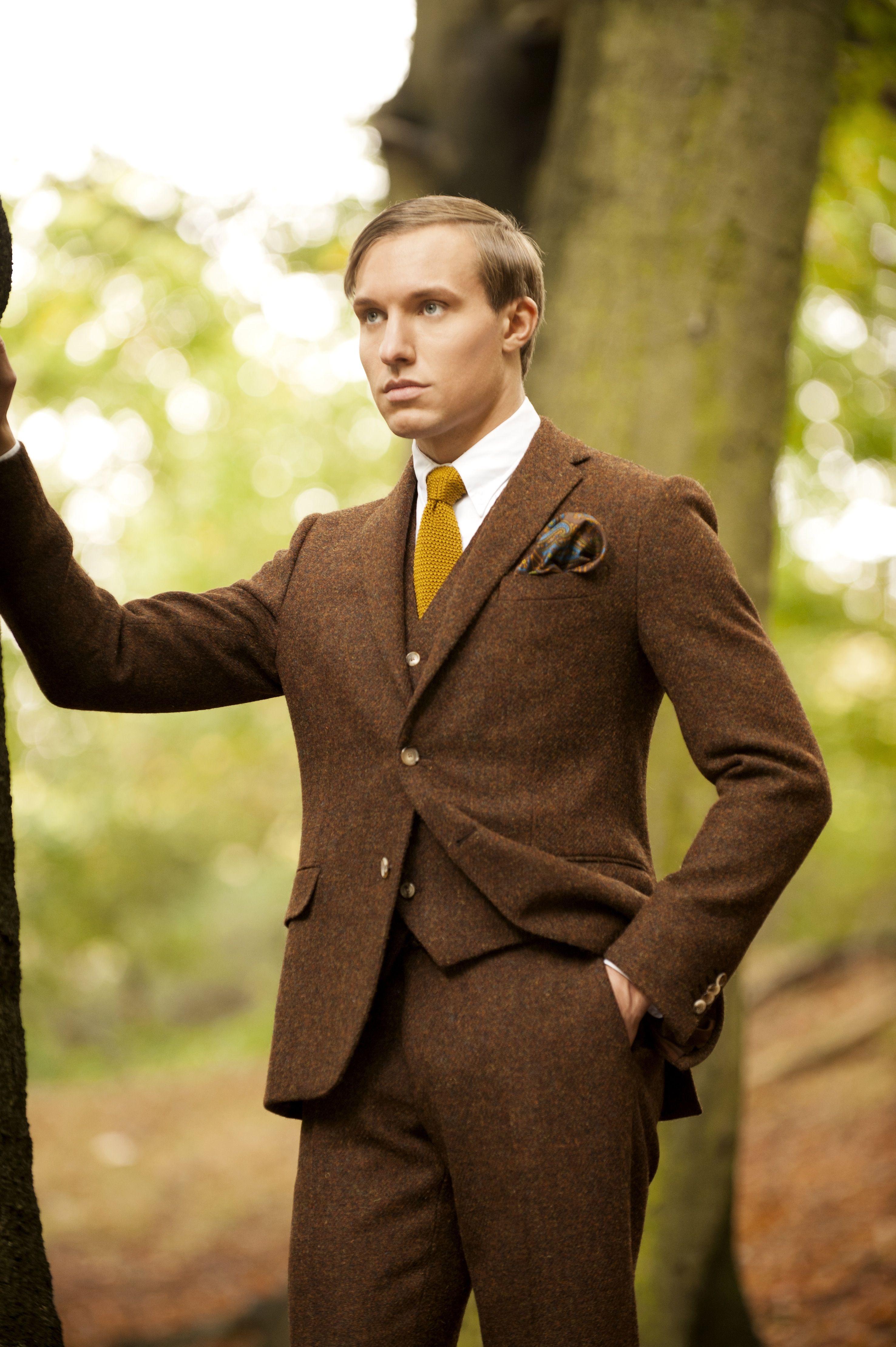 Custom made Harris Tweed 3 piece suit by Doherty Evans & Stott ...
