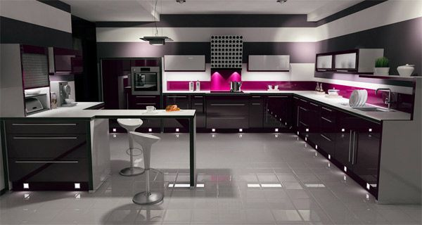 Kitchen Design Black adding more sophisticated interior with black high glossy kitchen