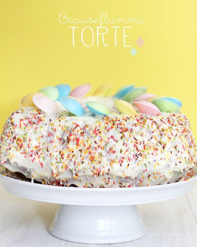 Brauseflummi Torte Zum Kindergeburtstag Gefallt Pinterest Cake