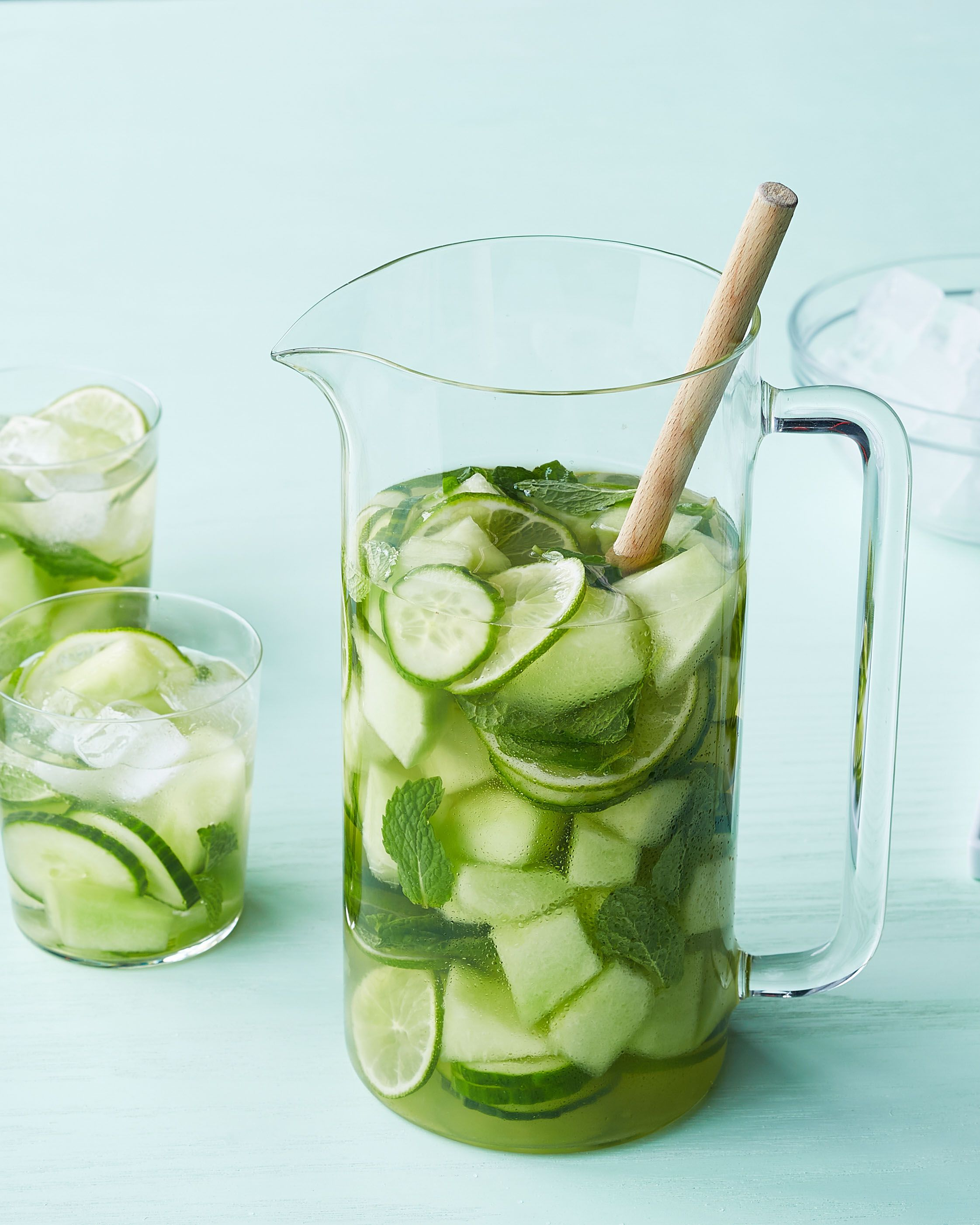 White Sangria with Tequila Recipe | Martha Stewart Living — Go green with this refreshing take on the classic big-batch drink.