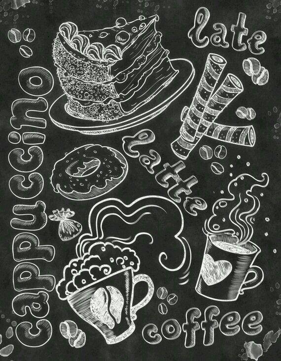 Blackboard Cafe Kitchen Chalkboard Chalkboard Typography