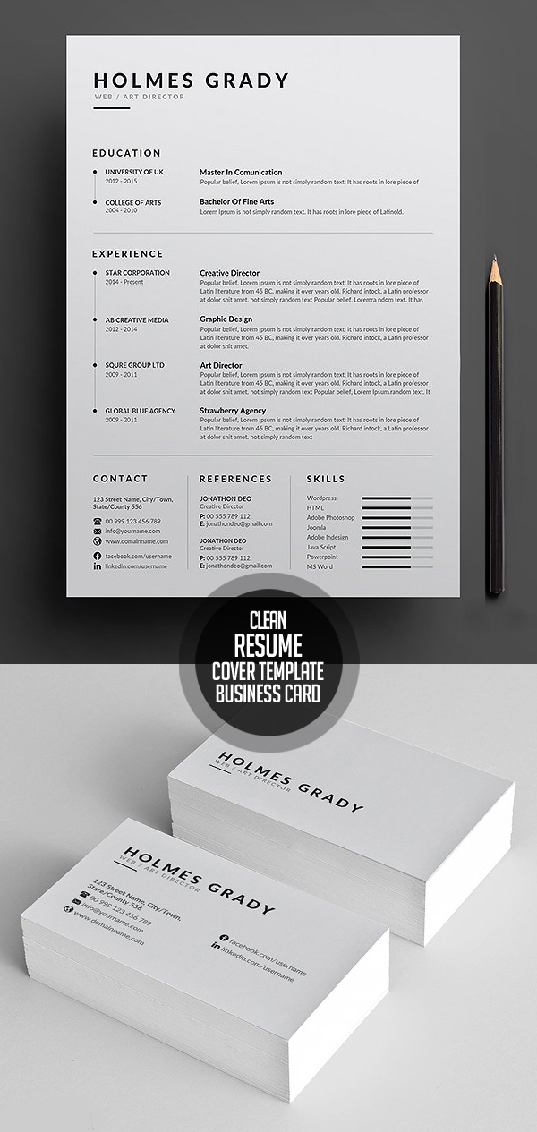 25 Best Resume Templates For 2020 in 2020 (With images)
