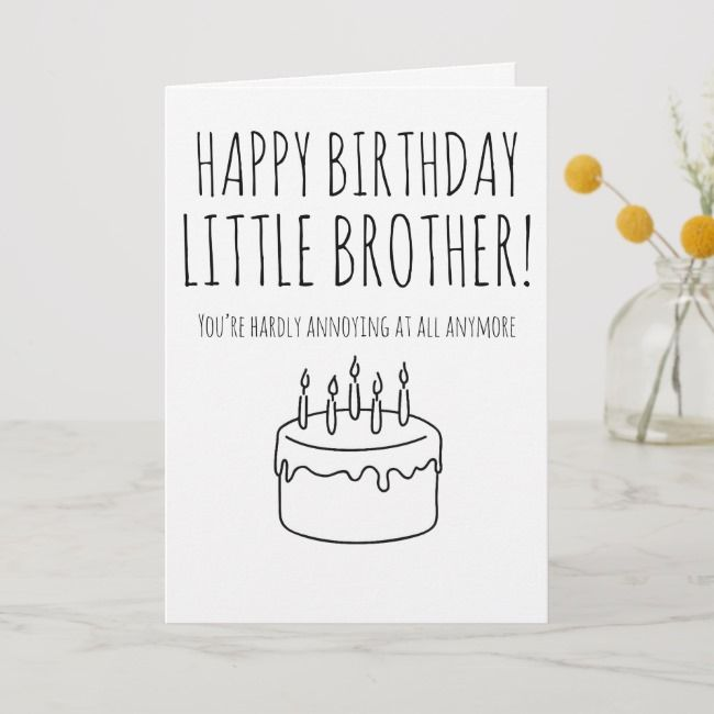 Funny Birthday Card Humorous Card For Brother