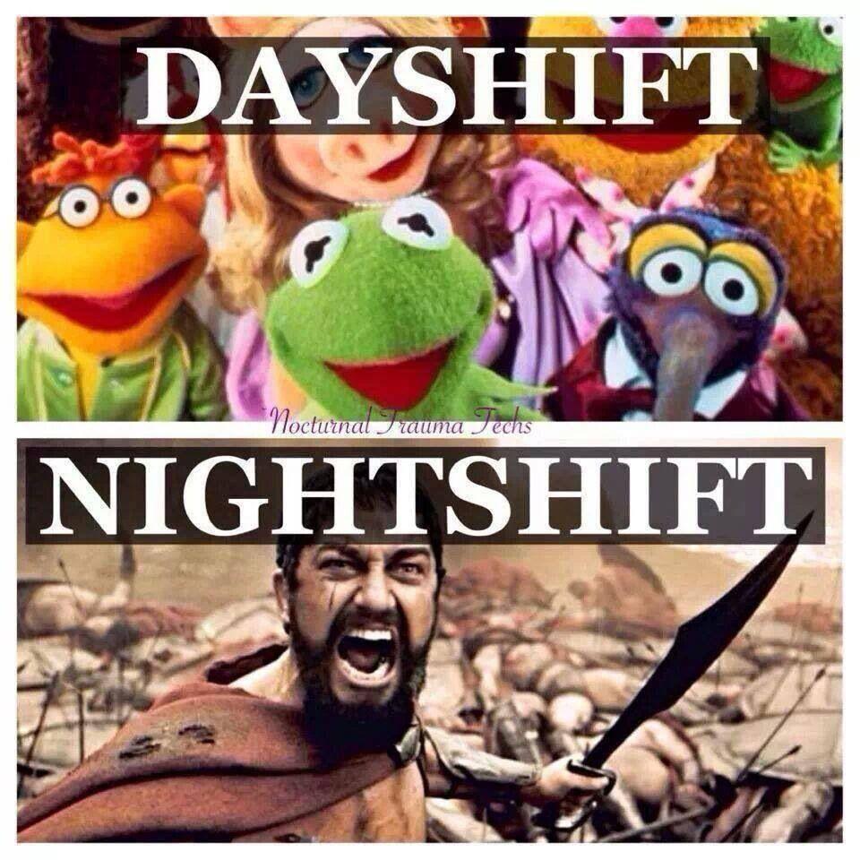 Day Shift Vs Nightshift Night Shift Humor Nurse Humor Lab Humor