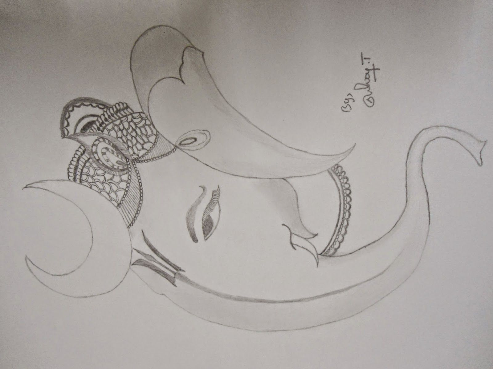 Ganapathi pencil drawings lord ganesha pencil sketch ganapathy image 3
