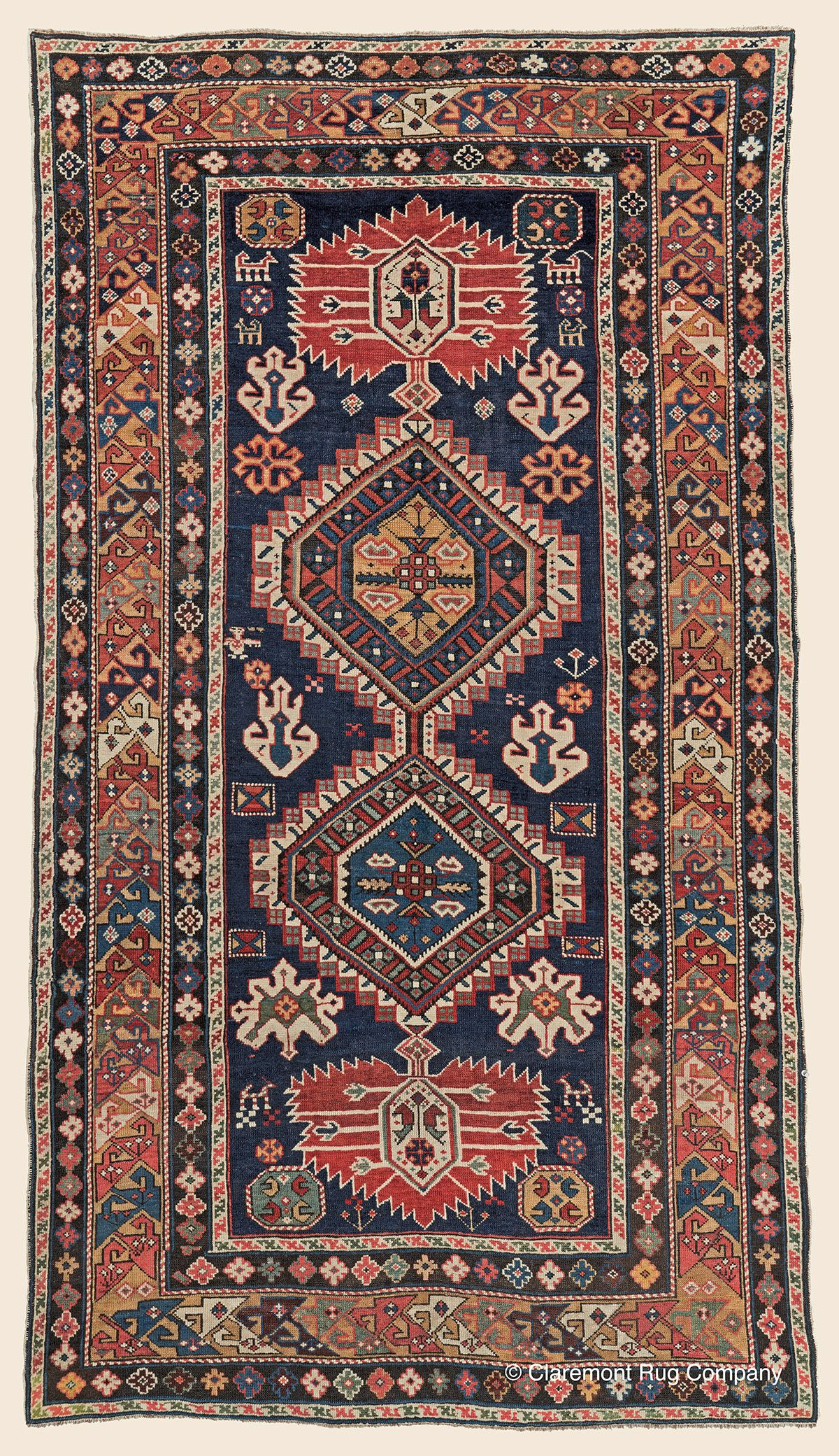 Gubpa Shirvan 4 0 X 6 10 Circa 1850 Southeast Caucasian Antique Rug Claremont Rug Company Click To Le Claremont Rug Company Antique Oriental Rugs Rugs