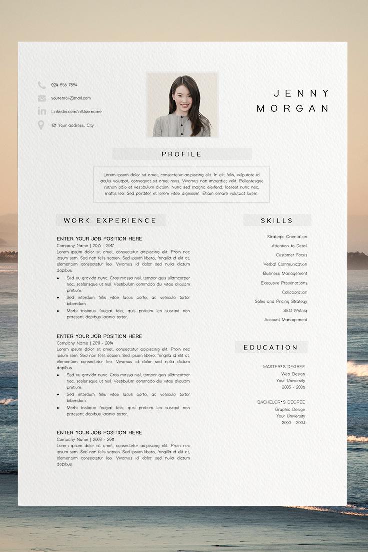 Resume Template Pdf Cv Resume Sample Jenny Morgan Desain Cv Desain Resume Cv Kreatif