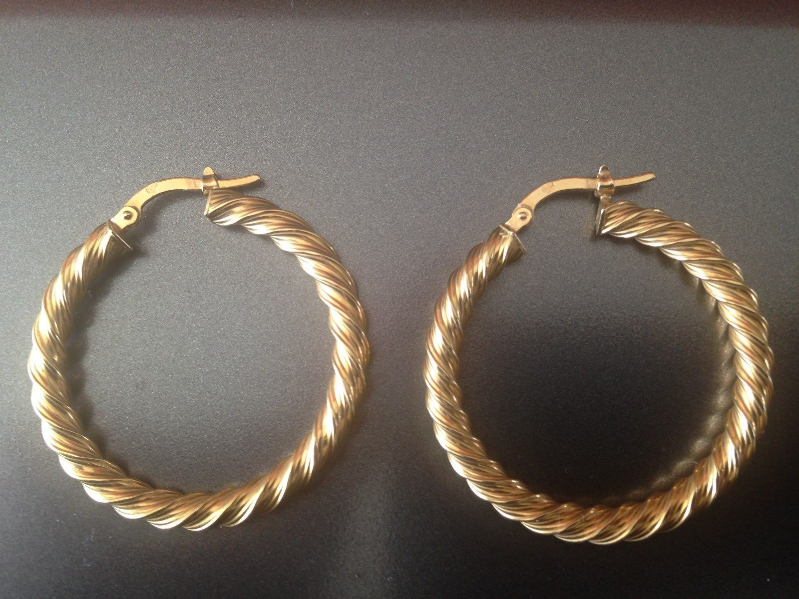 599f254e54b boucles d  oreilles CREOLE TORSADEE or jaune 18 carats - 750 1000 FOR SALE