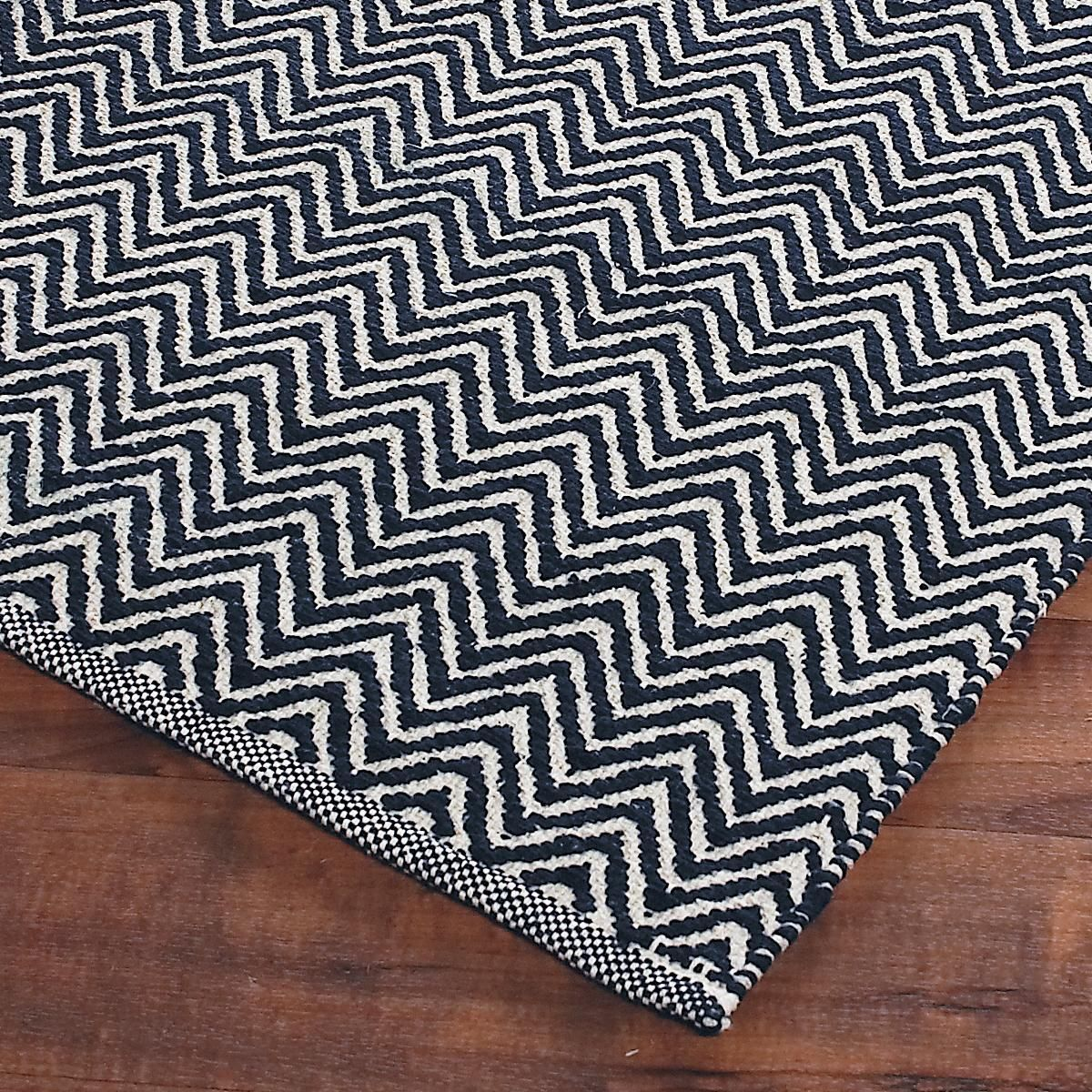 Chevron Kitchen Rug: Cotton Chevron Flat Weave Rug