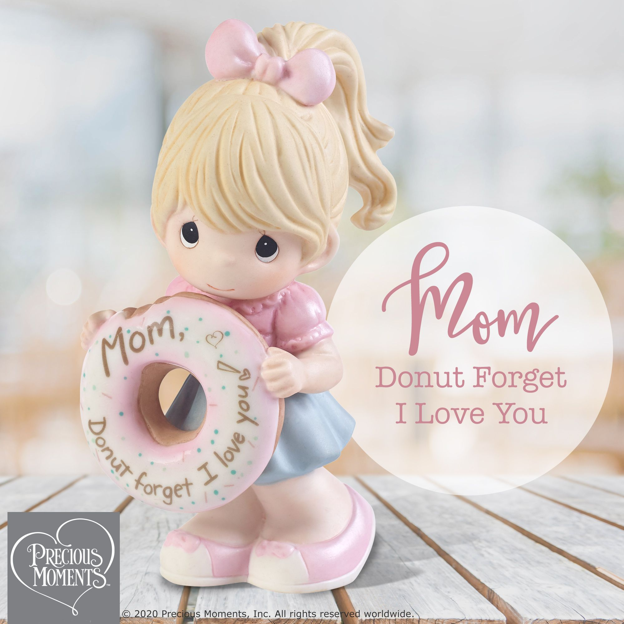 Mom Donut Forget I Love You Figurine Girl In 2020 Precious Moments Figurines Precious Moments Love And Marriage