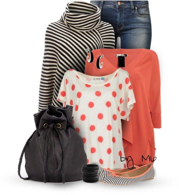 Stripe Fringe Poncho Stylish Fall Winter Outfit outfitspedia