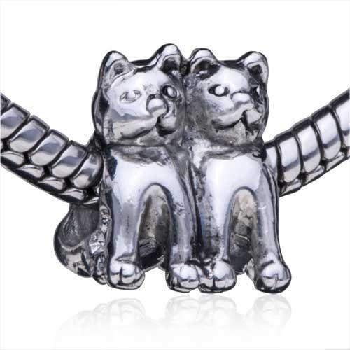 c5c4645db Twin Cat European Bead Fits Pandora Beads | jewels, jewels, and more ...