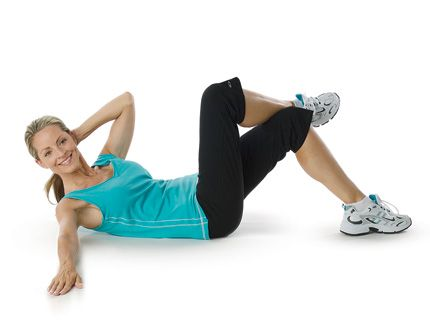 oblique crossover crunch  abs workout crunches workout