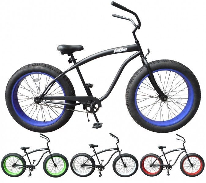 26 fat tire beachcruiser fahrrad fattie cruiser chopper. Black Bedroom Furniture Sets. Home Design Ideas