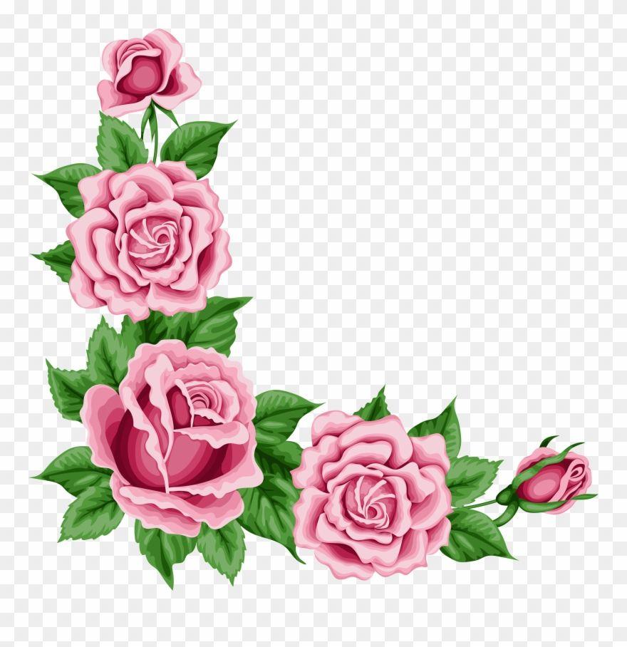 Pink Rose Clipart Flower Corner Rose Corner Border Png Transparent Png Rose Clipart Rose Flower Png Pink Rose Flower