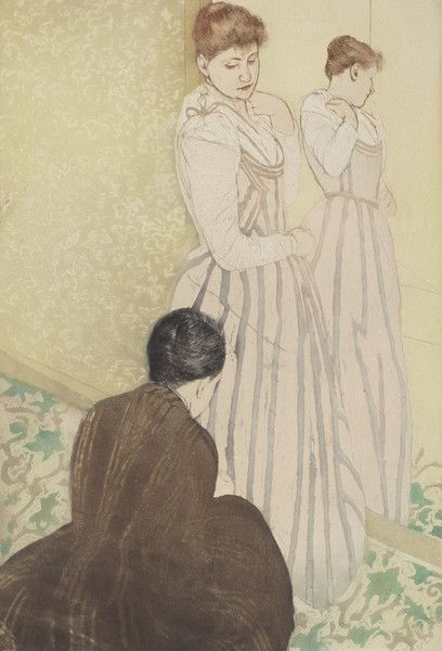 The Fitting by Mary Cassatt from National Gallery of Art Washington DC