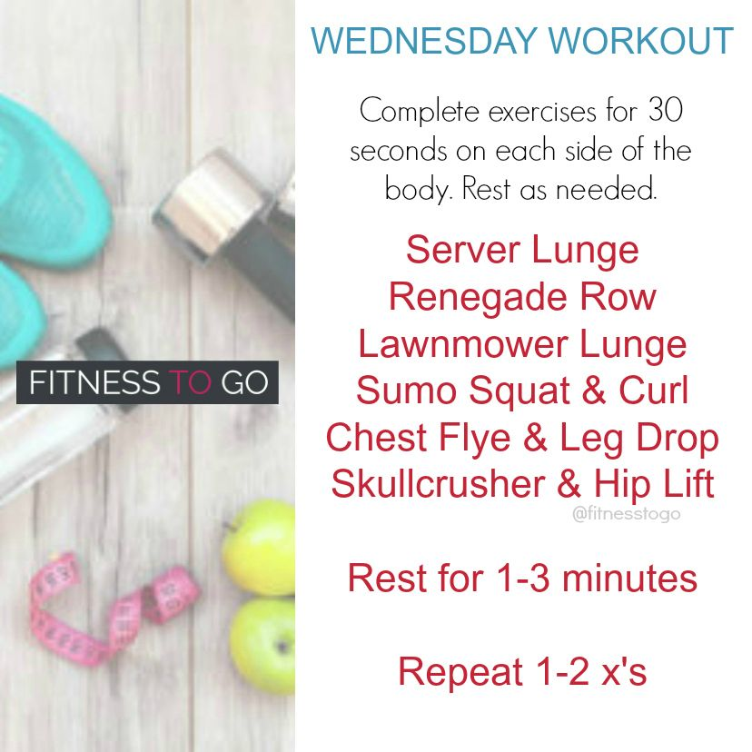 Wednesday Workout. Circuit Style HIIT Workout. Quick and effective ...
