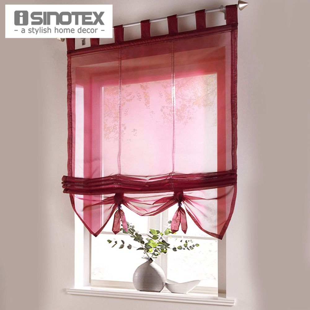 Sheer window curtains kitchen - Find More Curtains Information About Roman Curtain Floral Printing Sheer Window Curtain For Kitchen Living Room