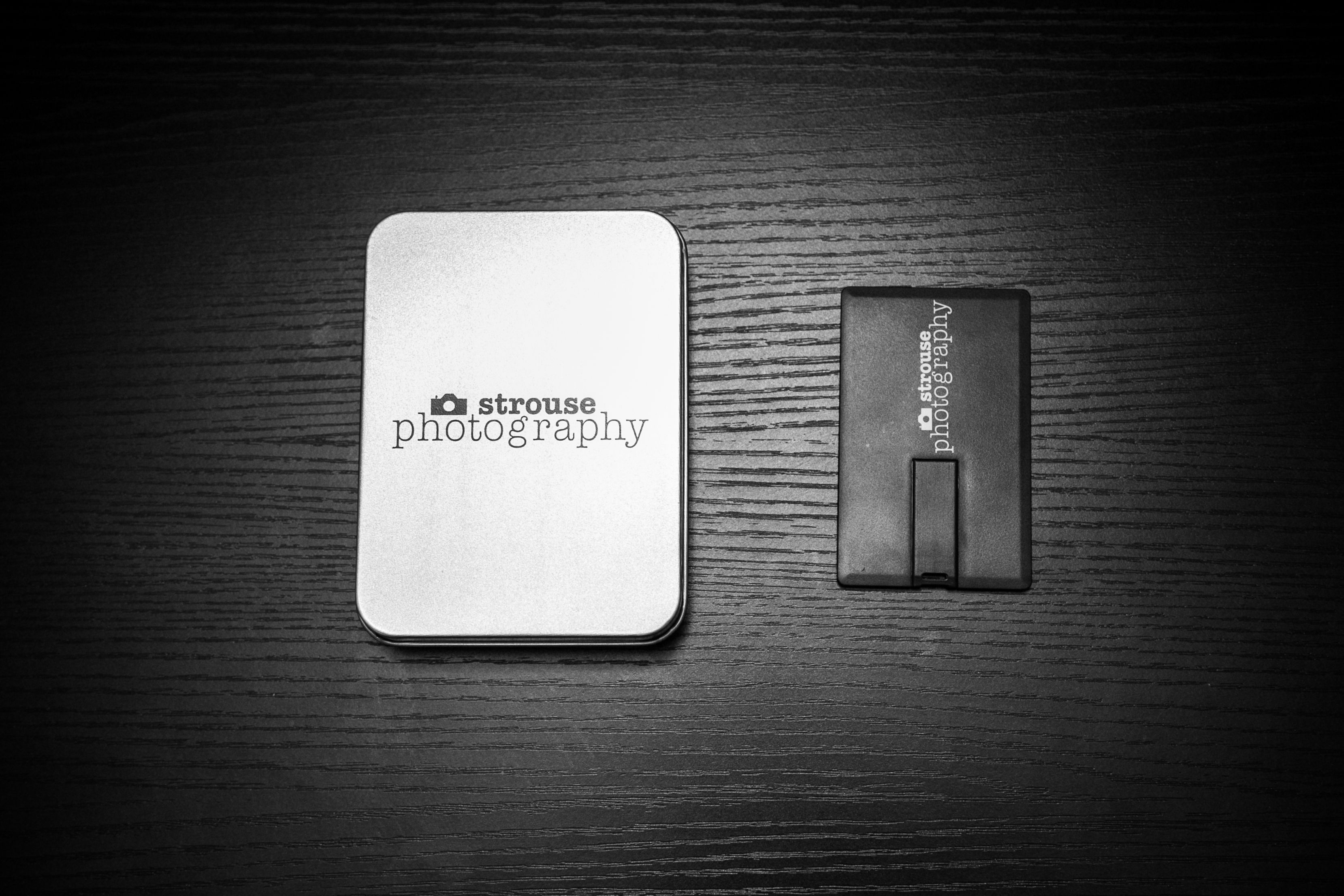 black business card flash drives with business logo