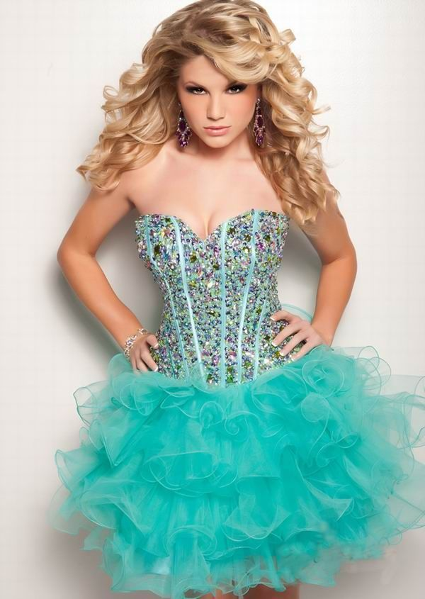 Pix For &gt- Light Blue Sparkly Short Prom Dress - dresses ...