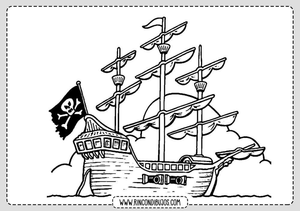 Dibujo Barco Pirata Para Colorear Rincon Dibujos Dibujo Barco Pirata Dibujo De Barco Barcos Para Colorear