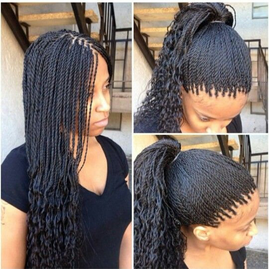 Micro Twist Cute But They Dont Look Micro Micro Braids Hairstyles African Braids Hairstyles Twist Braid Hairstyles