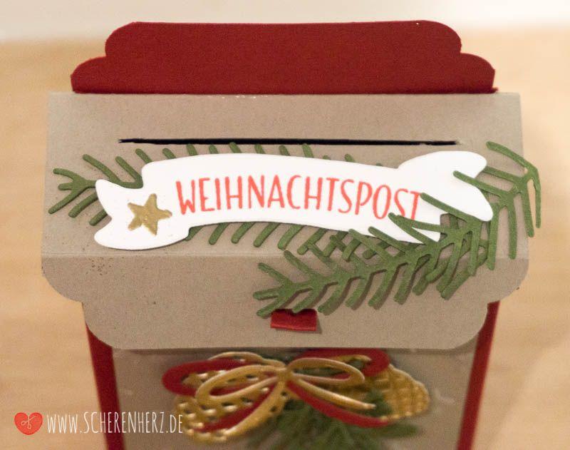 Weihnachtspost ist da! - eine Briefkasten Verpackung Stampin'Up