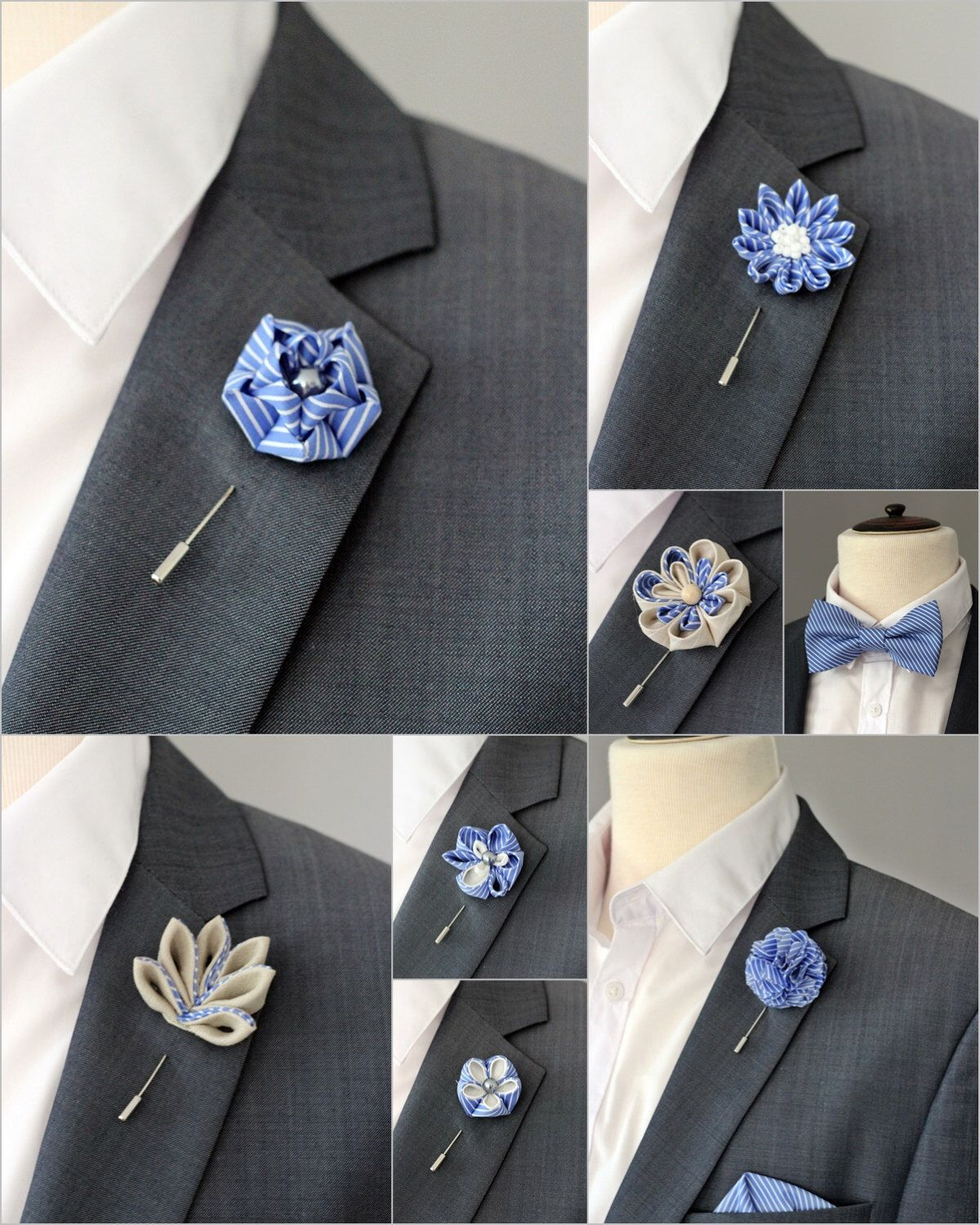 72d3b1eb110 1 flower lapel pin, Mens lapel flower Boutonniere, dusty rose wedding lapel  pin mens gift, pocket square,pink bow tie,blush hot pink