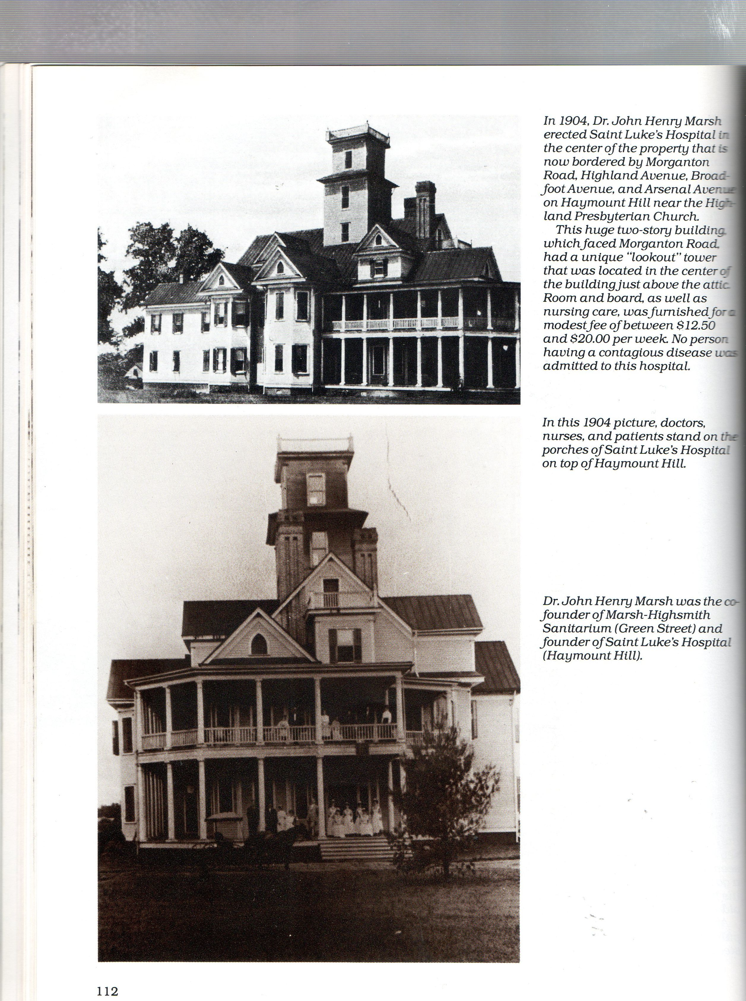 Saint Lukes Hospital Fayetteville NC 1904 founded by Dr