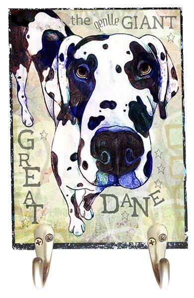 Pop Art Harlequin Great Dane Leash Hook By Snicklenfritz On Etsy