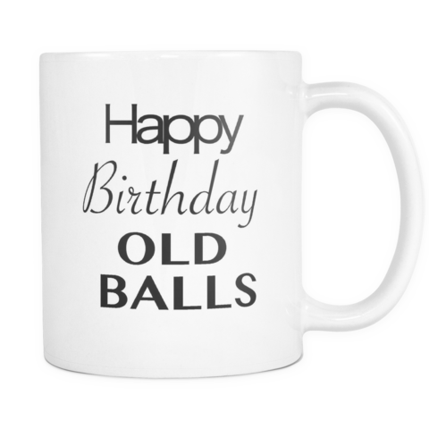 Over The Hill Dad Jokes 50th Birthday Gift Happy Birthday Old Balls Mug