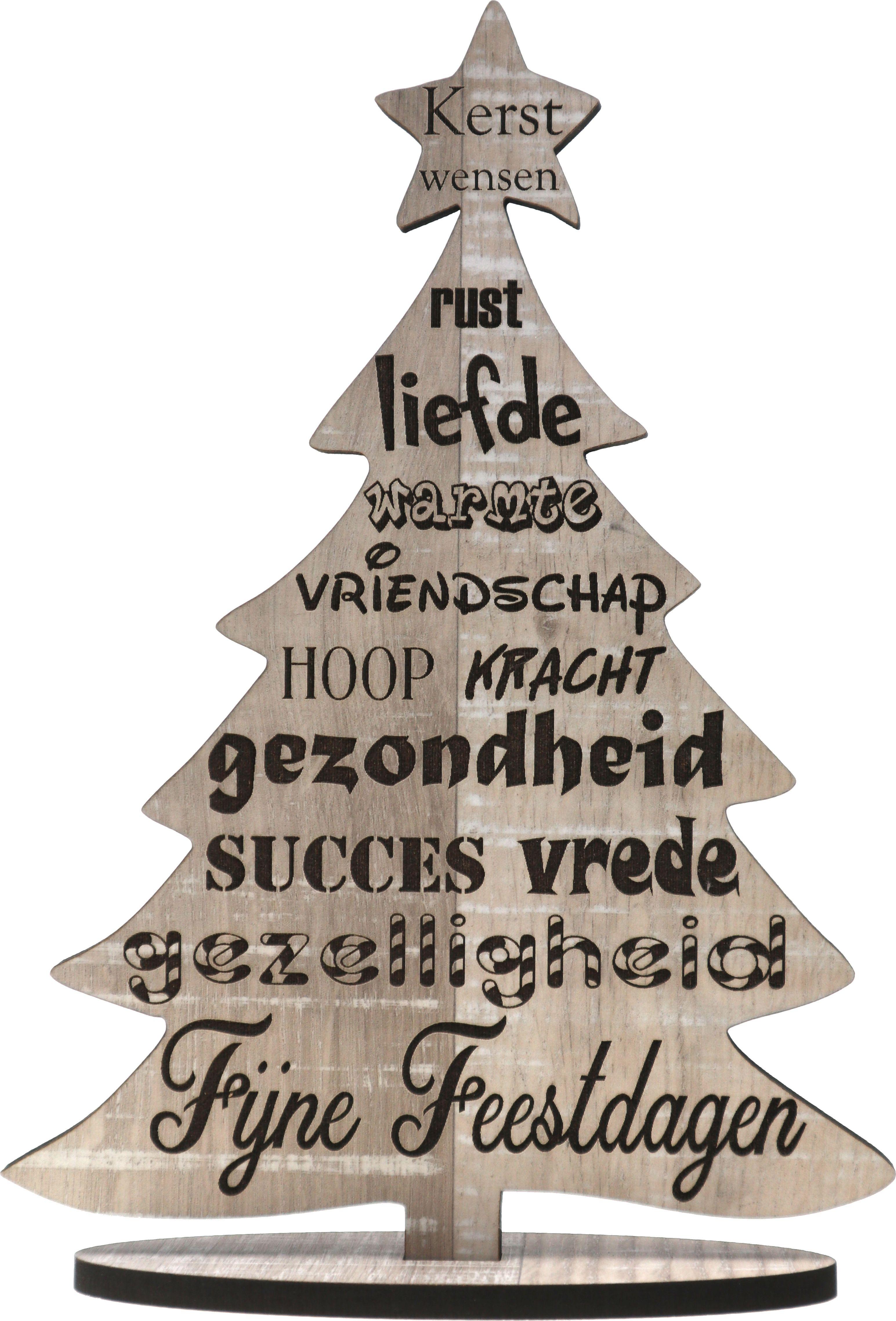 Houten kerstkaart - Kerst wensen