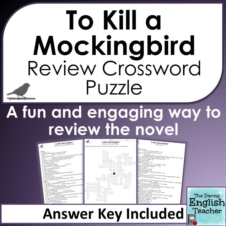 To Kill a Mockingbird Crossword Puzzle | Lees, Harper lee and Harpers