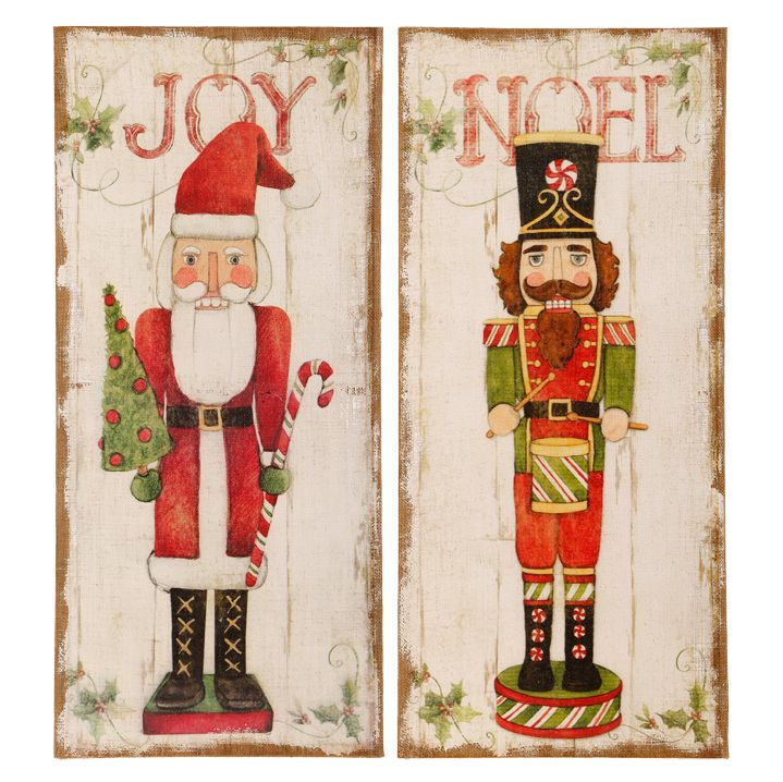 Charming Wall Art To Adorn The Background Of Your Holiday Vignette Christmas Paintings Christmas Trinkets Christmas Art