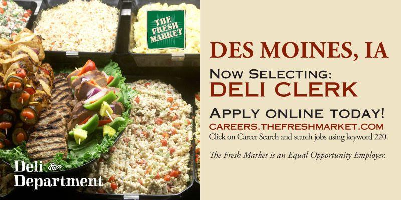 Deli Clerk Job Openings In Des Moines Ia Job Opening Clerk