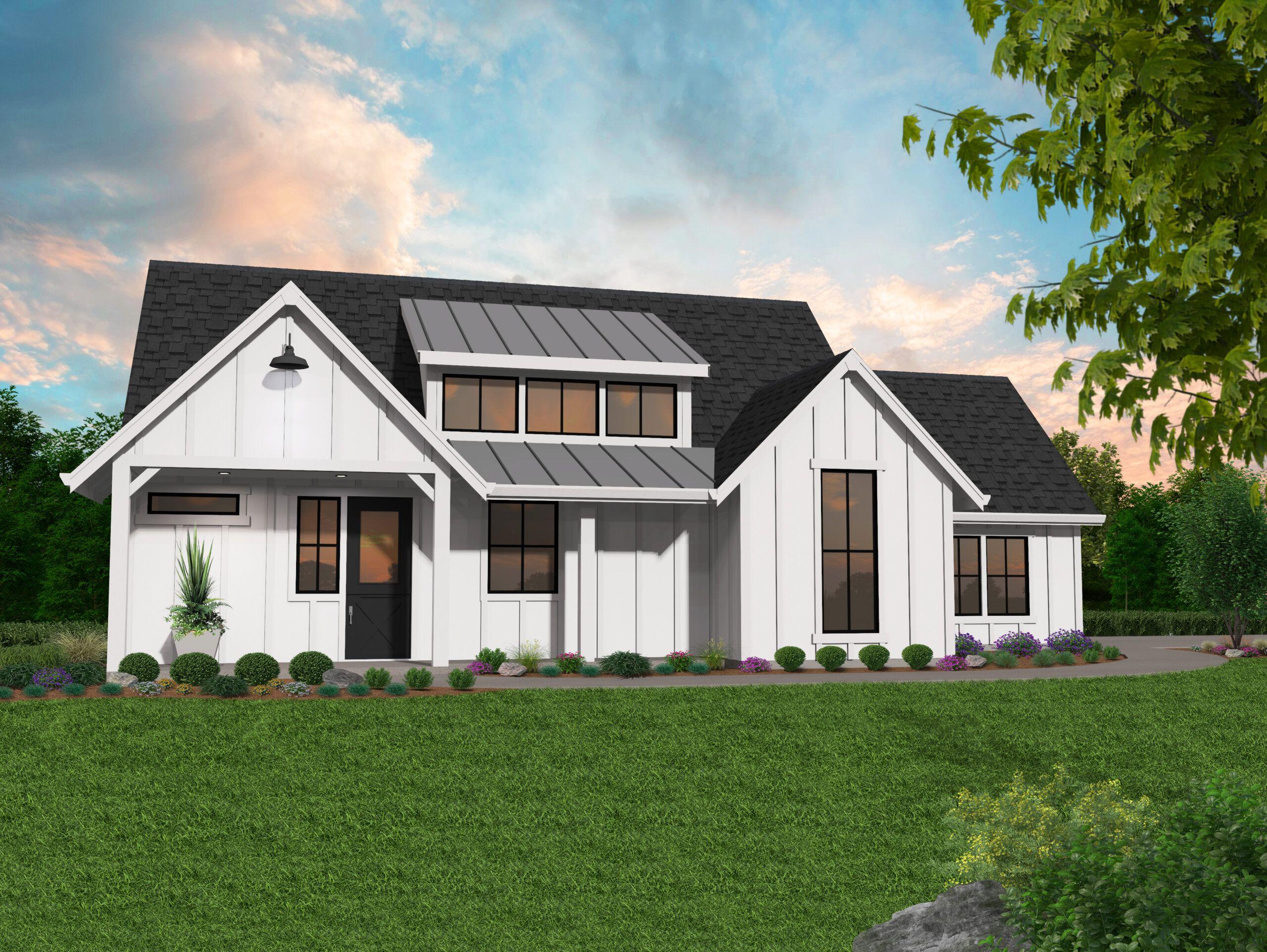 Farm 640 Heritage House Plan Modern Farmhouse Home Design In 2020 Heritage House House Plans With Pictures Cottage House Plans