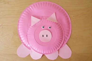paper plate pig & paper plate pig | Farm Crafts for Kids! | Pinterest | Farm crafts ...