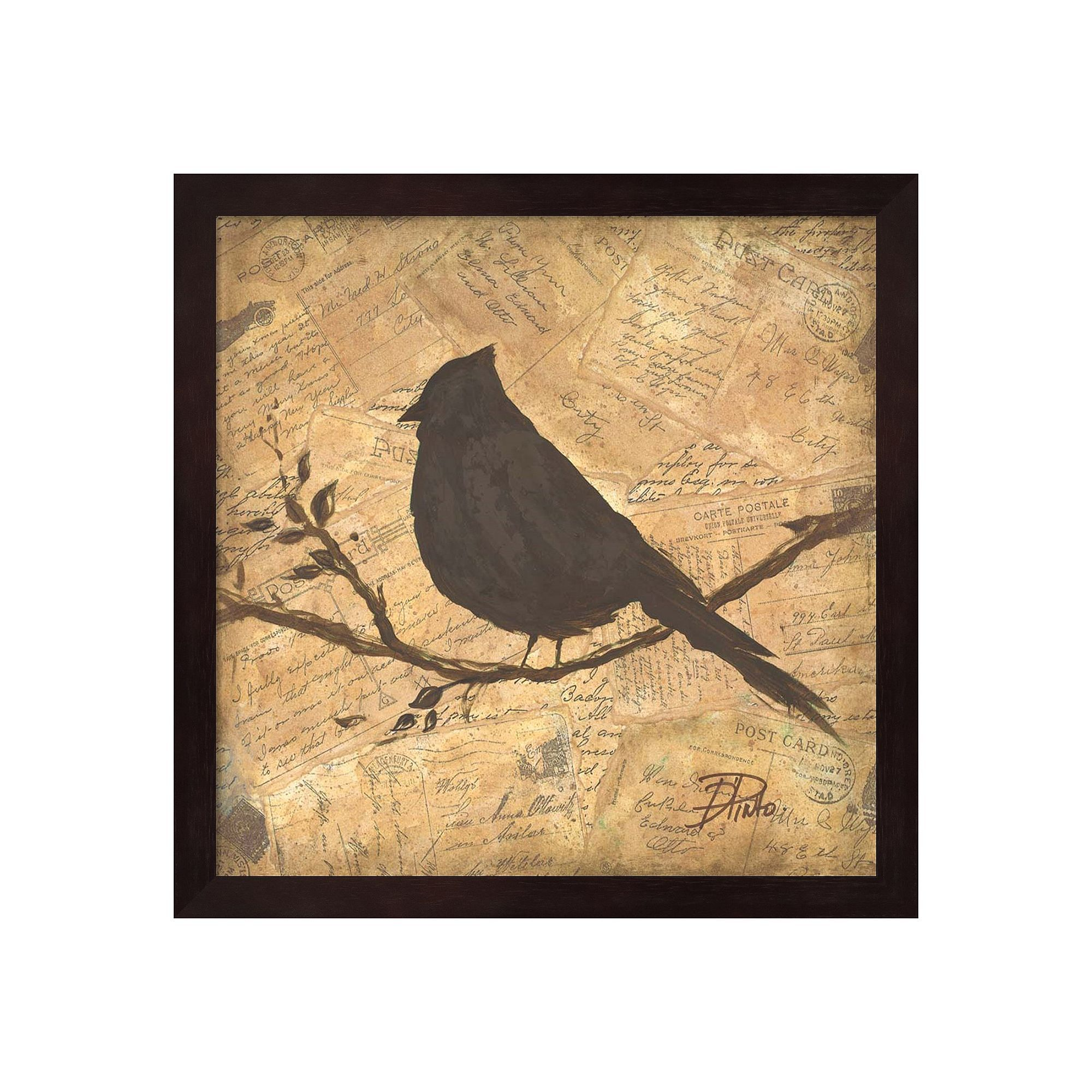 Metaverse Art Bird Silhouette II Framed Wall Art, Brown | Bird ...