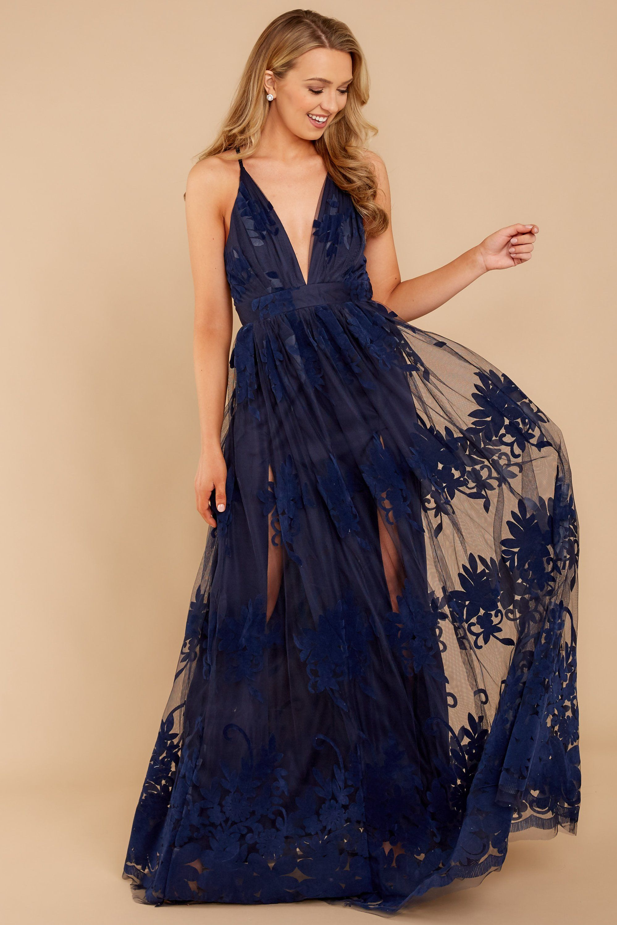 c7c368cbfff45 Gorgeous Navy Maxi Dress - Lace Dress - Formal Dress - $68.00 – Red Dress  Boutique