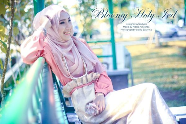 Bloomy Holy Ied by Eldina Syahrina, via Behance