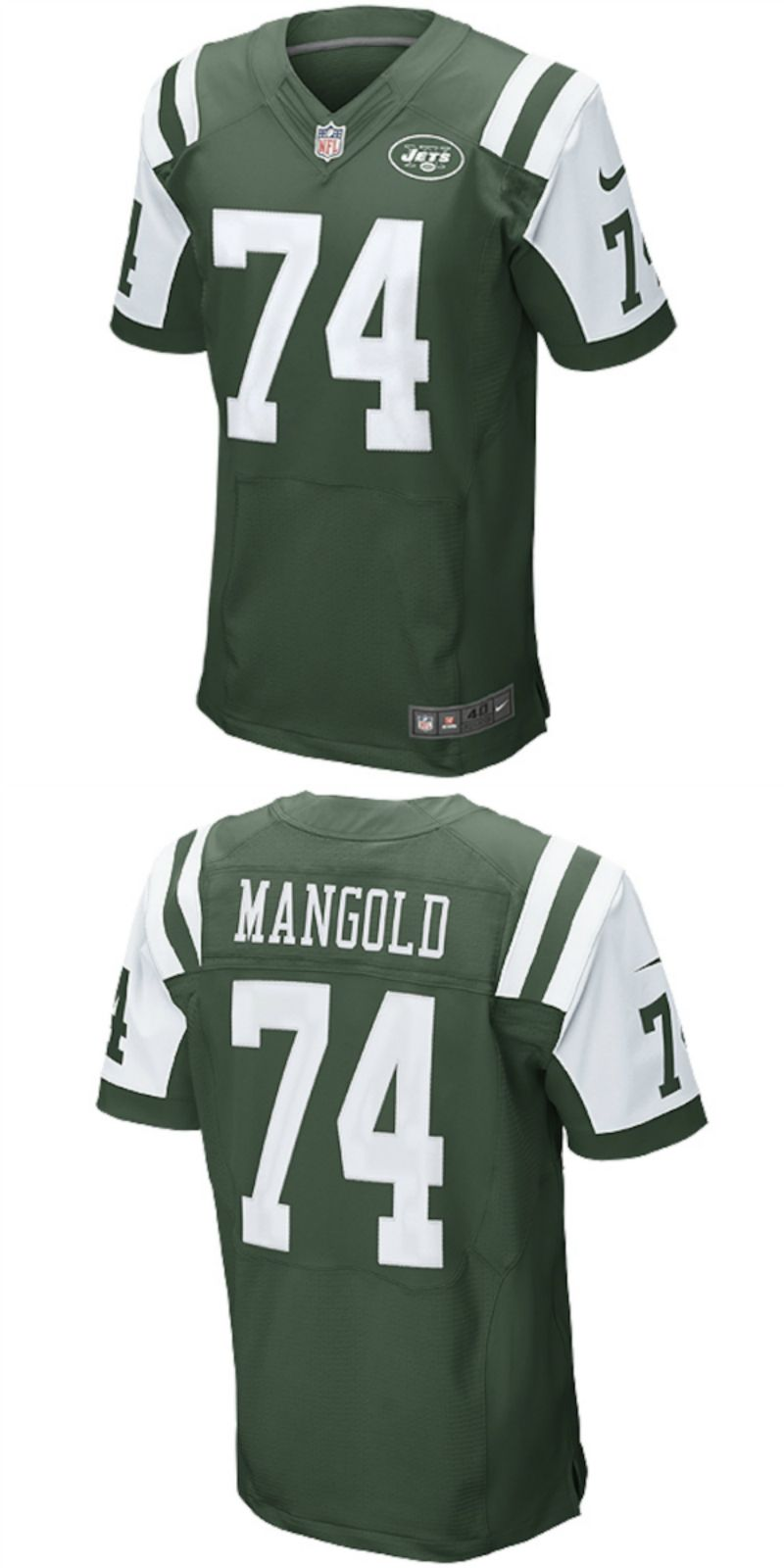 best loved 0330d 6b83a UP TO 70% OFF. Nick Mangold New York Jets Nike Elite Jersey ...