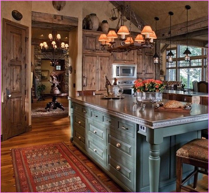 43 Extremely Creative Small Kitchen Design Ideas: Rustic Lake House Decorating Ideas