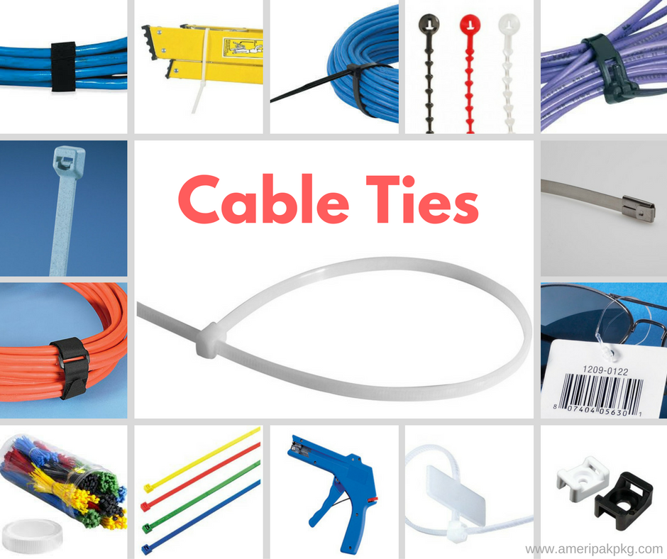 Conventional and specialty #CableTies by Ameripak useful for small, medium, and heavy duty applications.