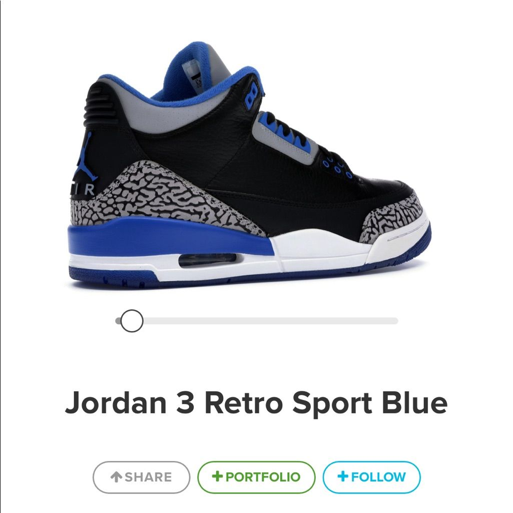 Jordan Shoes | Jordan 3 Retro Blue | Color: BlackBlue