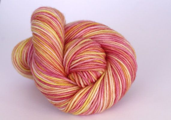 Hand Dyed Yarn  Merino Cashmere Nylon  MCN  by ClementineAndThread